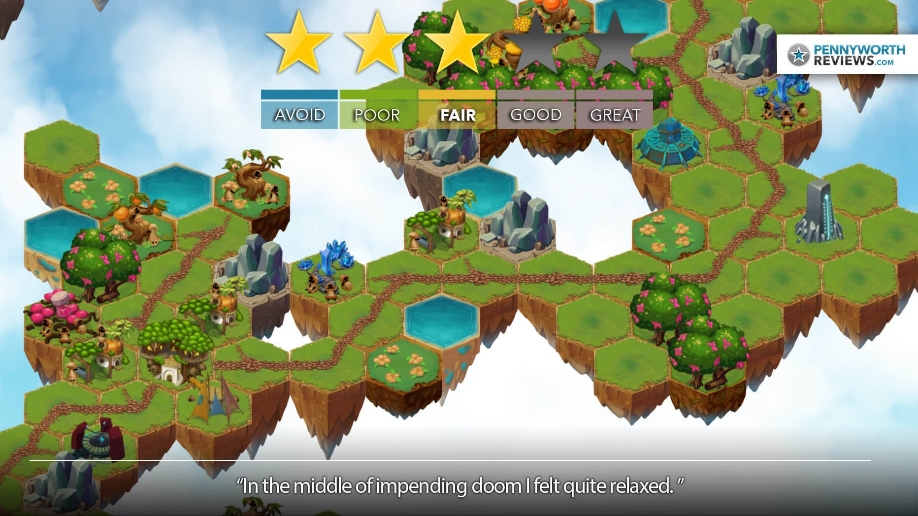 VOLANTIA: KINGDOM IN THE SKY Delivers Relaxing Stress? | Steam Review