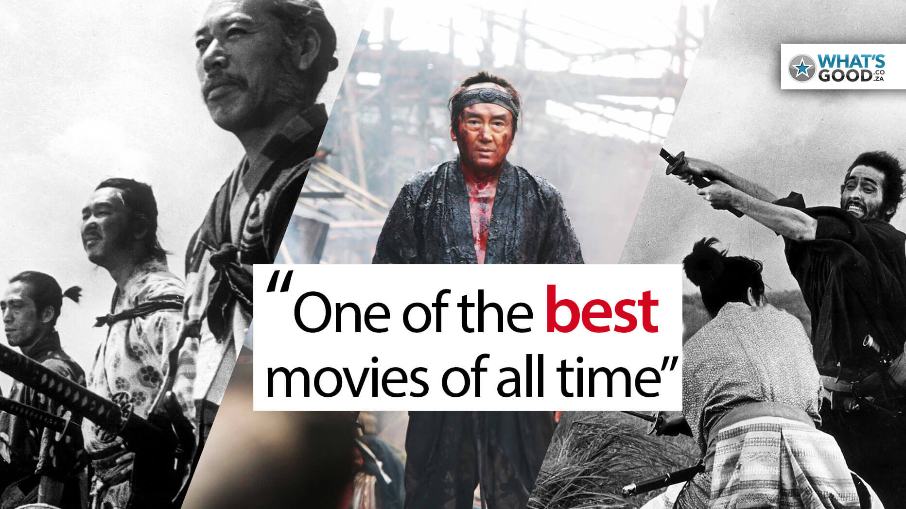 Samurai Movie Posters Headers for Seven Samurai, 13 Assassins, Hara Kiri