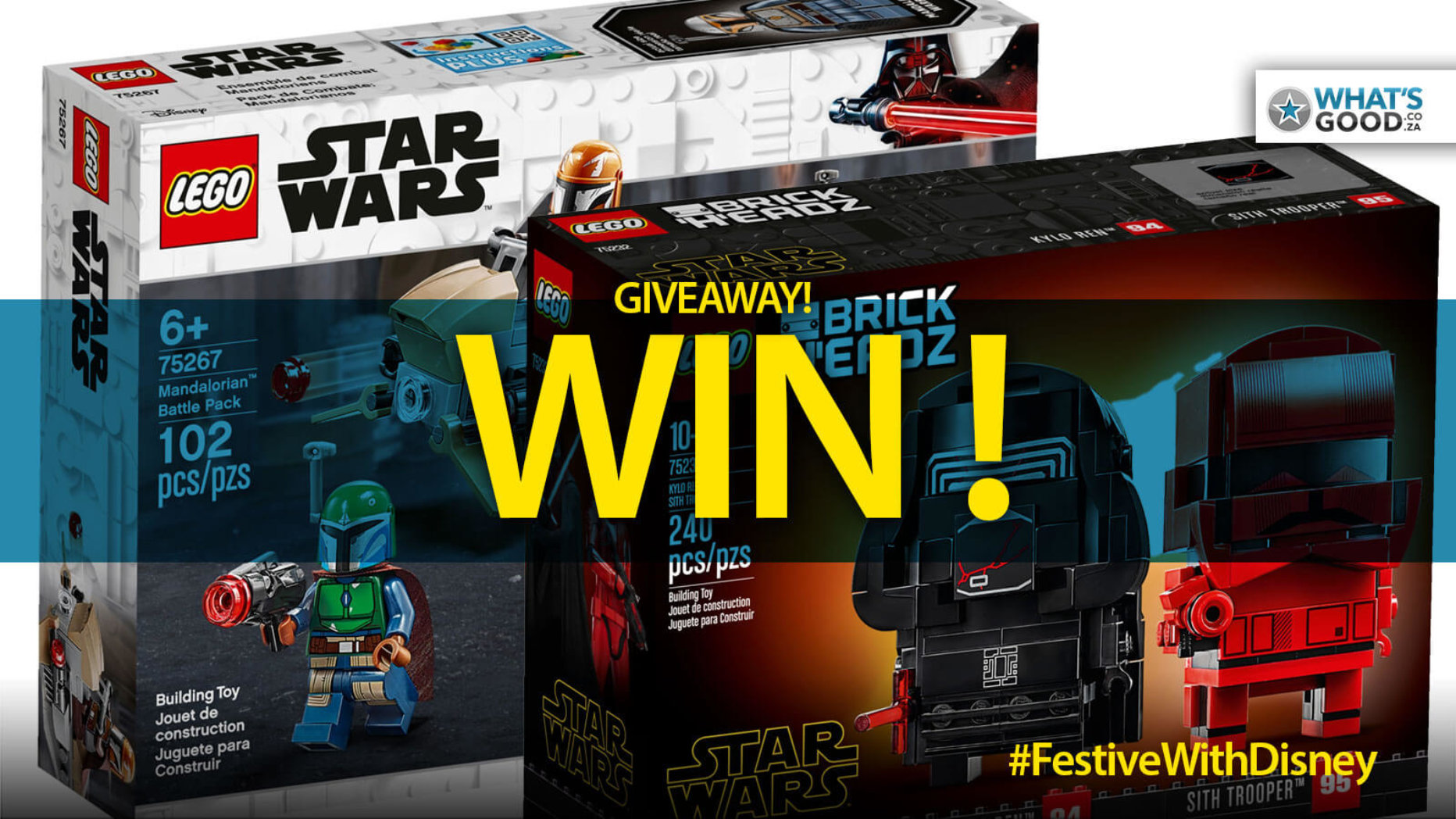 WIN! This LEGO Mandalorian Battle or Sith Brick Headz Pack – Details Inside